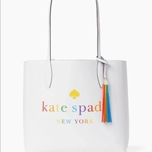 kate spade Bags - Kate Spade Rainbow logo large reversible Tote